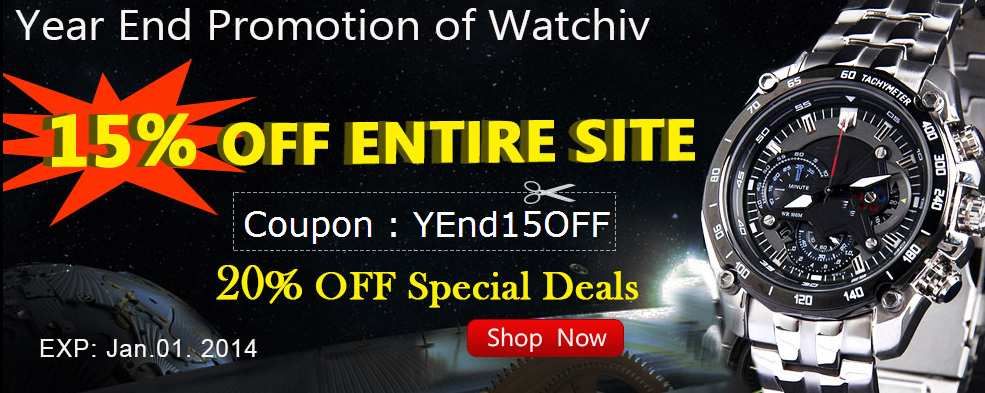 WatchIV: Купон 15% на покупку часов, спецпредложения - 20%