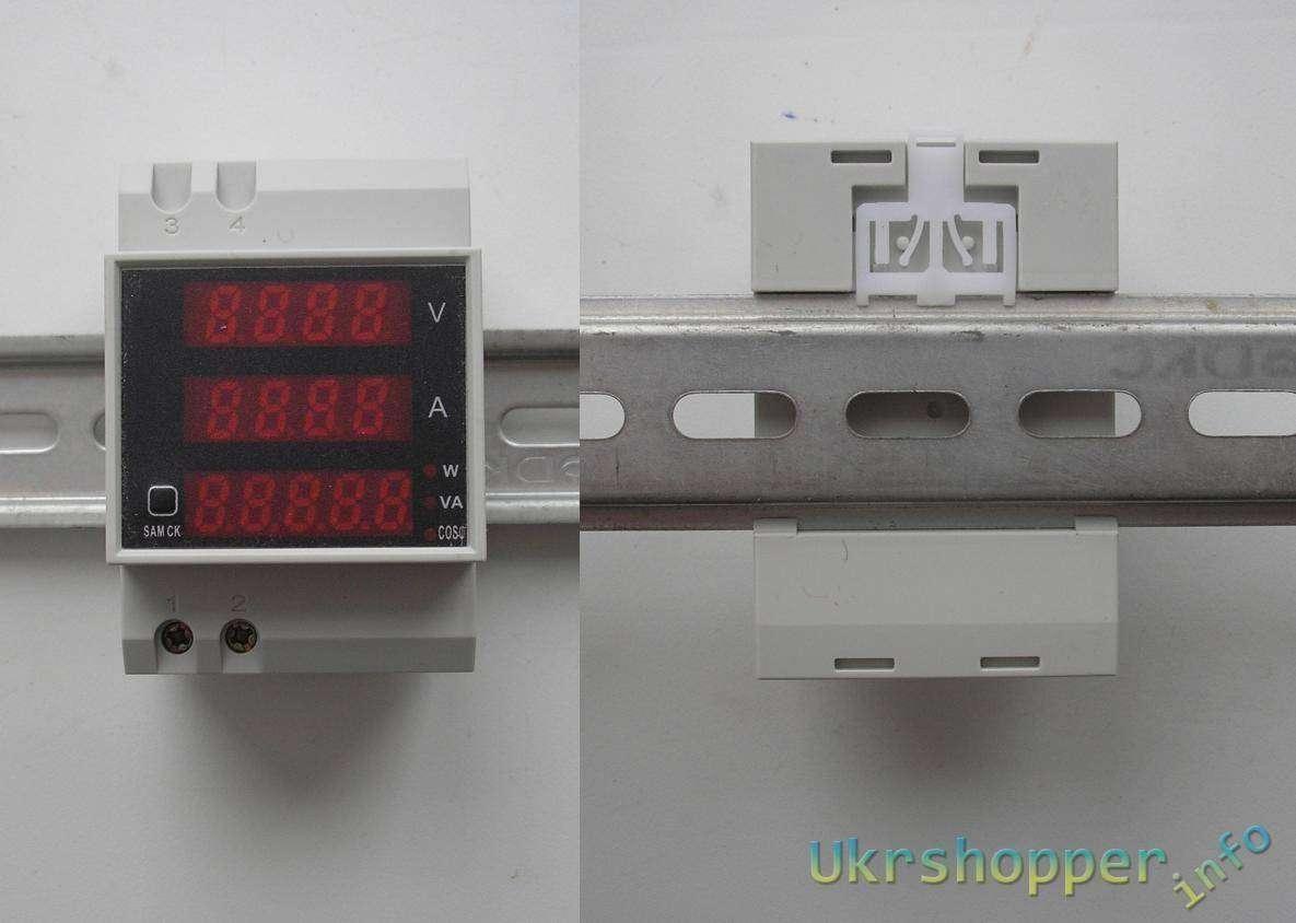 Banggood: ВольтАмперВаттметр на DIN-рейку.