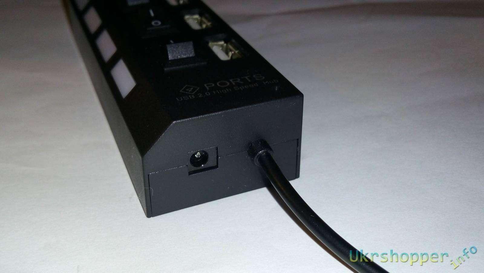 Banggood: 4х портовый USB hub с выключателями питания
