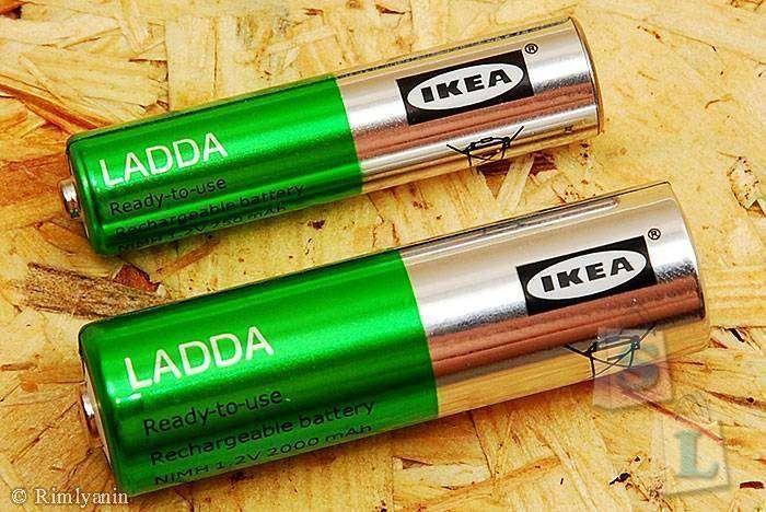 Аккумуляторы ladda из IKEA