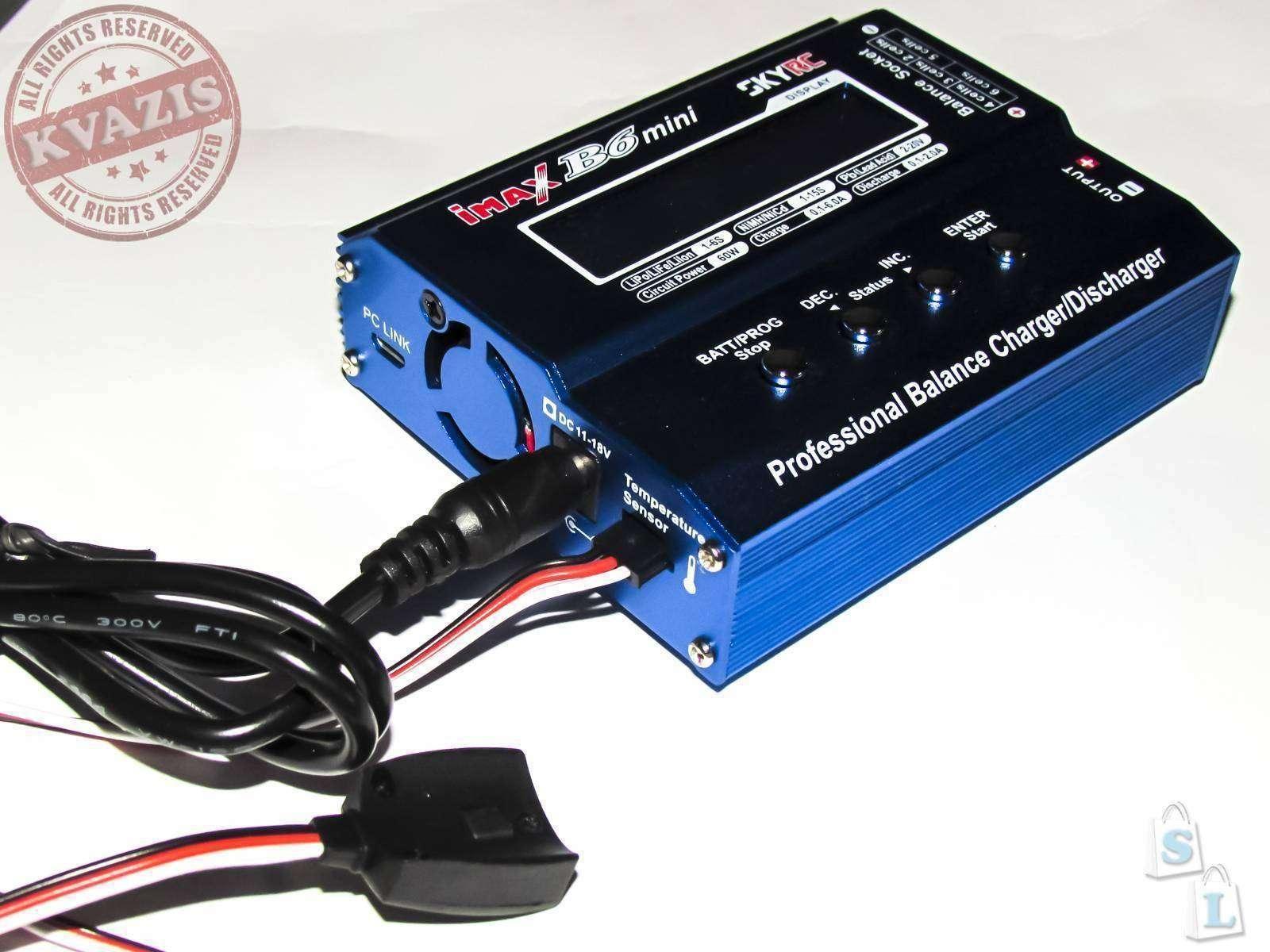 Banggood: Блок питания и датчик температуры для SkyRC iMAX B6 Mini