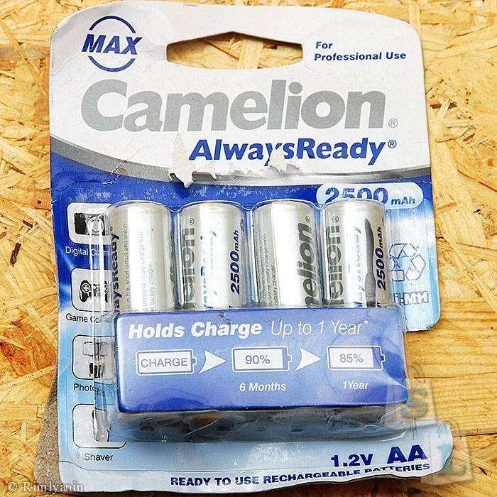 Minithebox: Аккумуляторы Camelion AlwaysReady 2500mAh MAX Ni-MH AA
