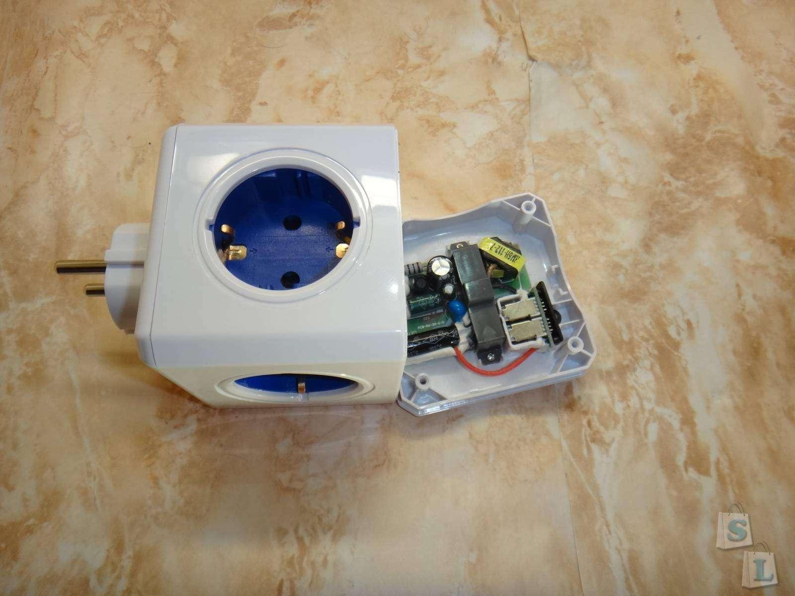 Allocacoc: Обзор энергокуба PowerCube Original +  USB  уникальное решение тройника