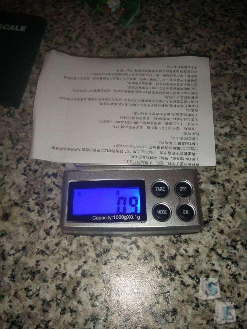 TinyDeal: Ювелирные электронные мини весы для домашних нужд до 1000 грамм