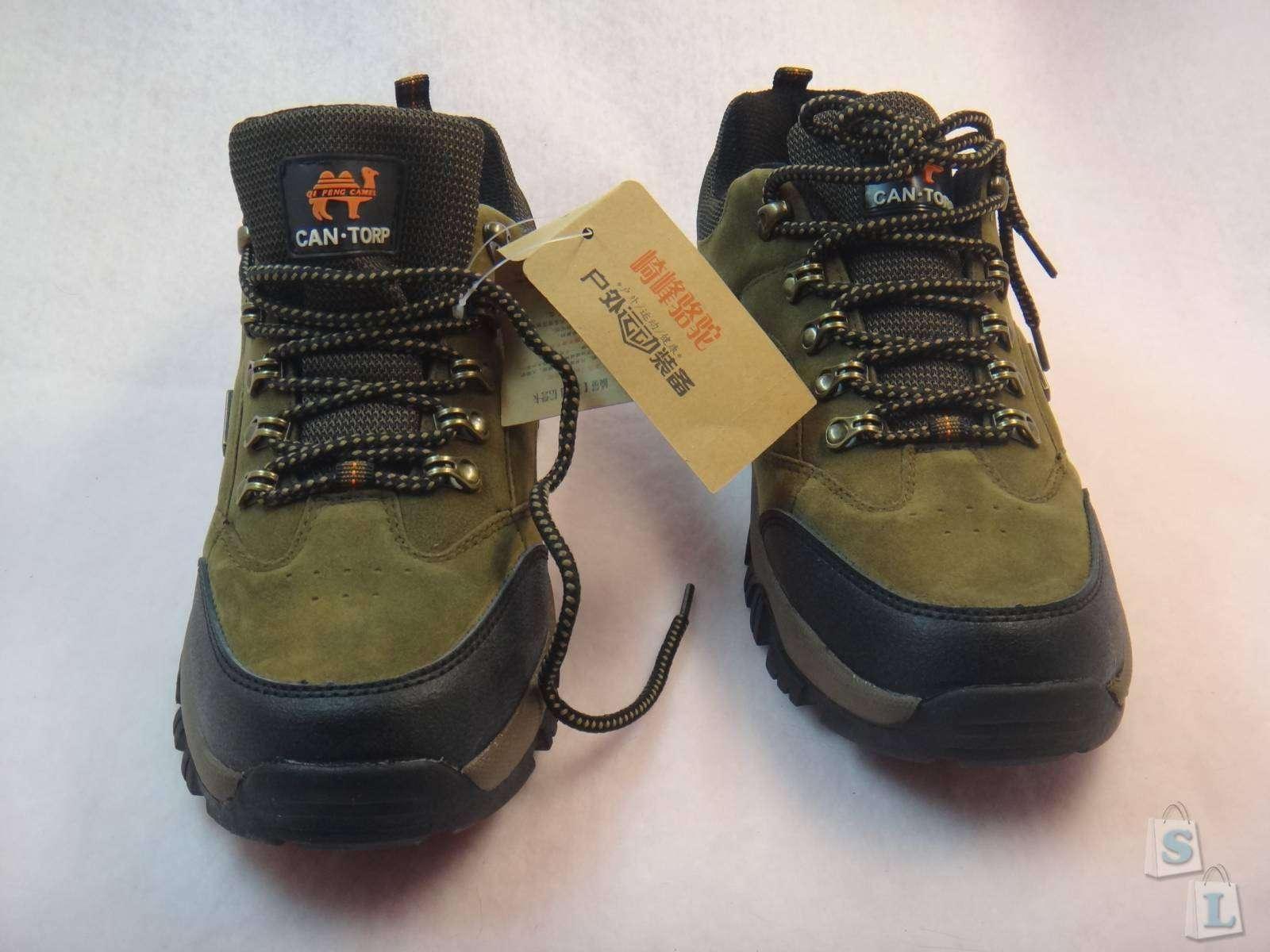 Мужские демисезонные ботинки QI FENG CAMEL Patchwork Sports/Outdoor Cow Leather Flat Heel Antiskid lace