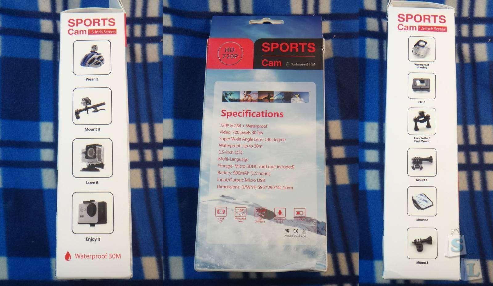 CooliCool: Sports Cam A8 Y8J обзор дешевой экшен камеры с хорошей комплектацией