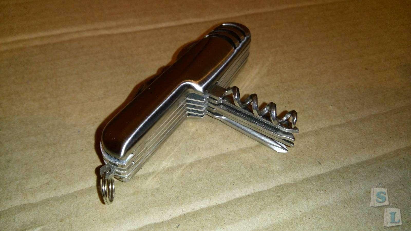 DealExtreme: Обзор складного швейцарского ножа с металлической ручкой. 11 инструментов