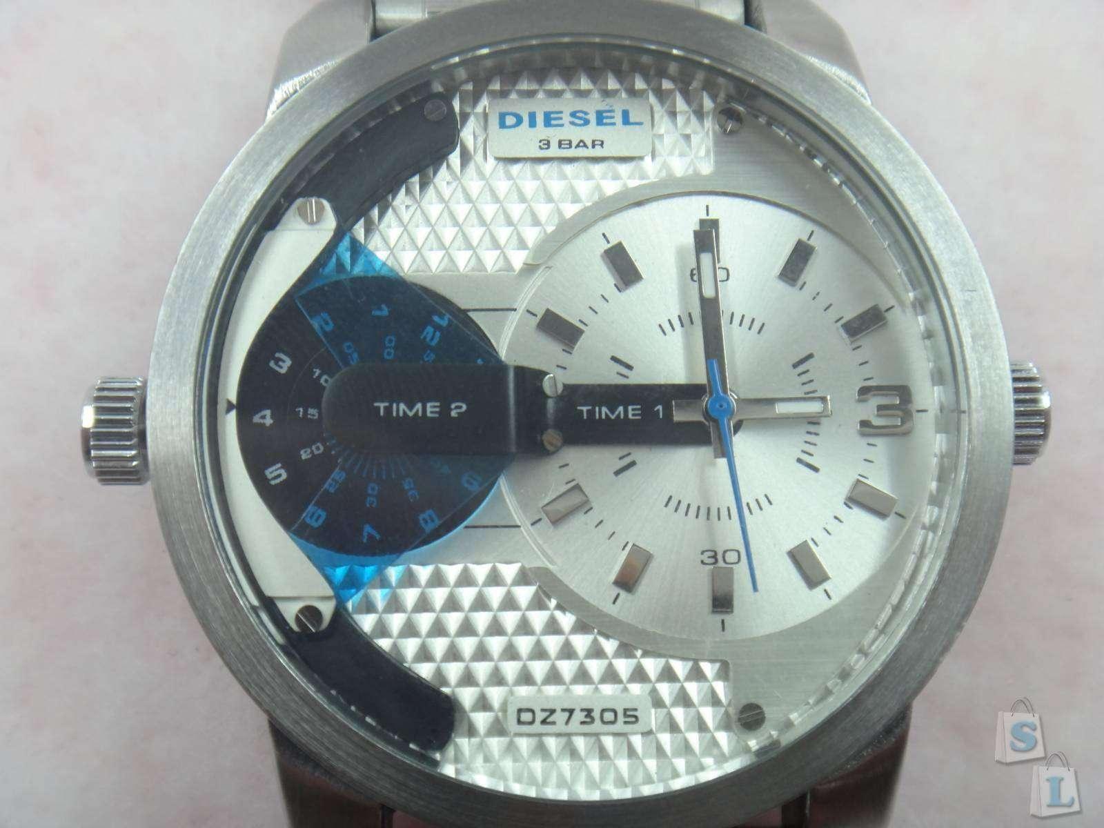 Качественная реплика (копия) Diesel DZ7308 мужские часы с двумя циферблатами