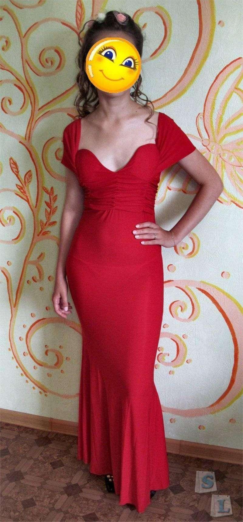 ChinaBuye: Длинное женское красное платье