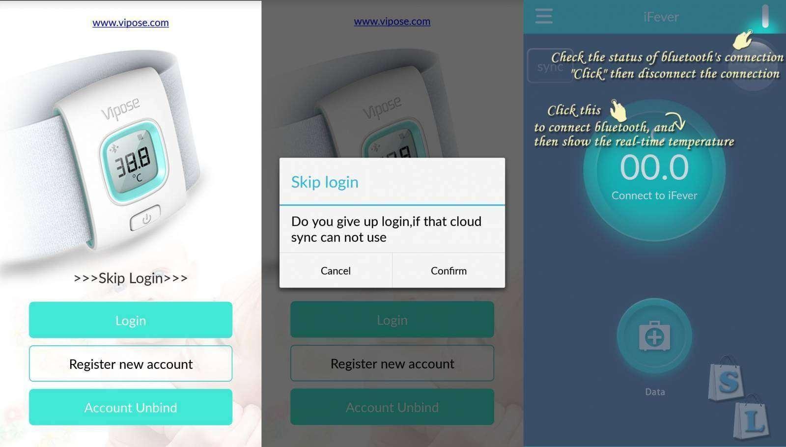EachBuyer: Цифровой  Bluetooth термометр Vipose iFever мониторинг температуры тела ребенка