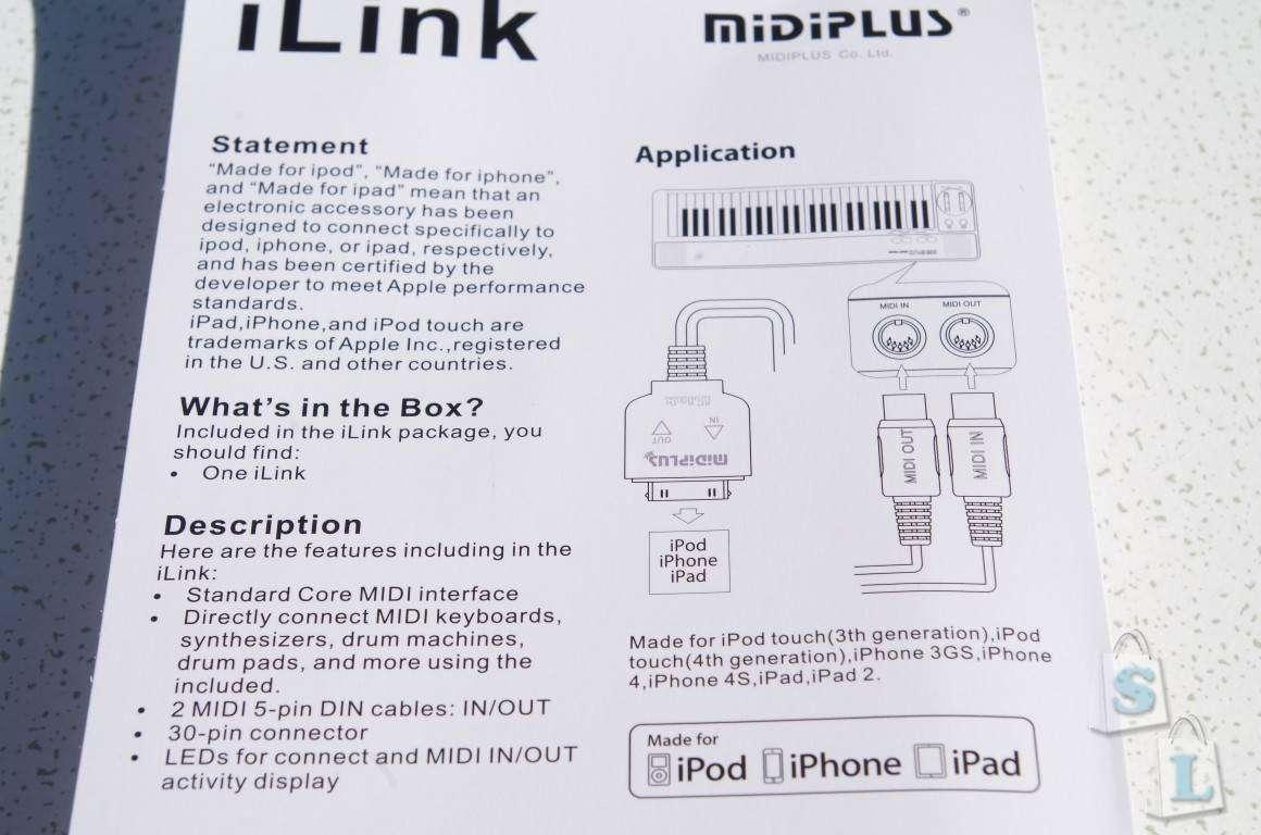 Aliexpress: Кабель для подключения midi-устройств к технике фирмы Apple