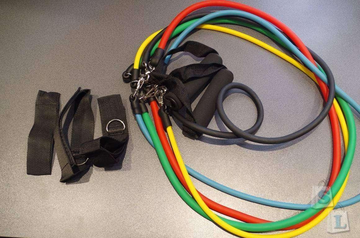 ChinaBuye: Матик для йоги и резиновый тренажер-жгут