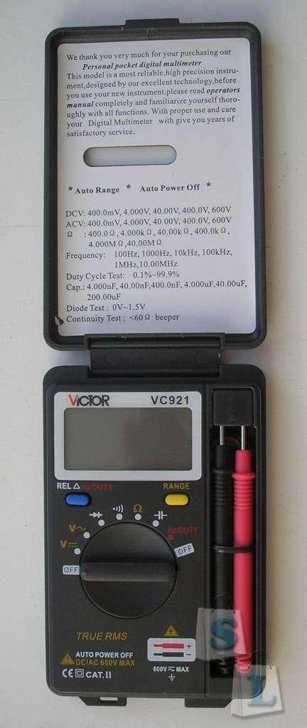 Aliexpress: мультиметр VC921