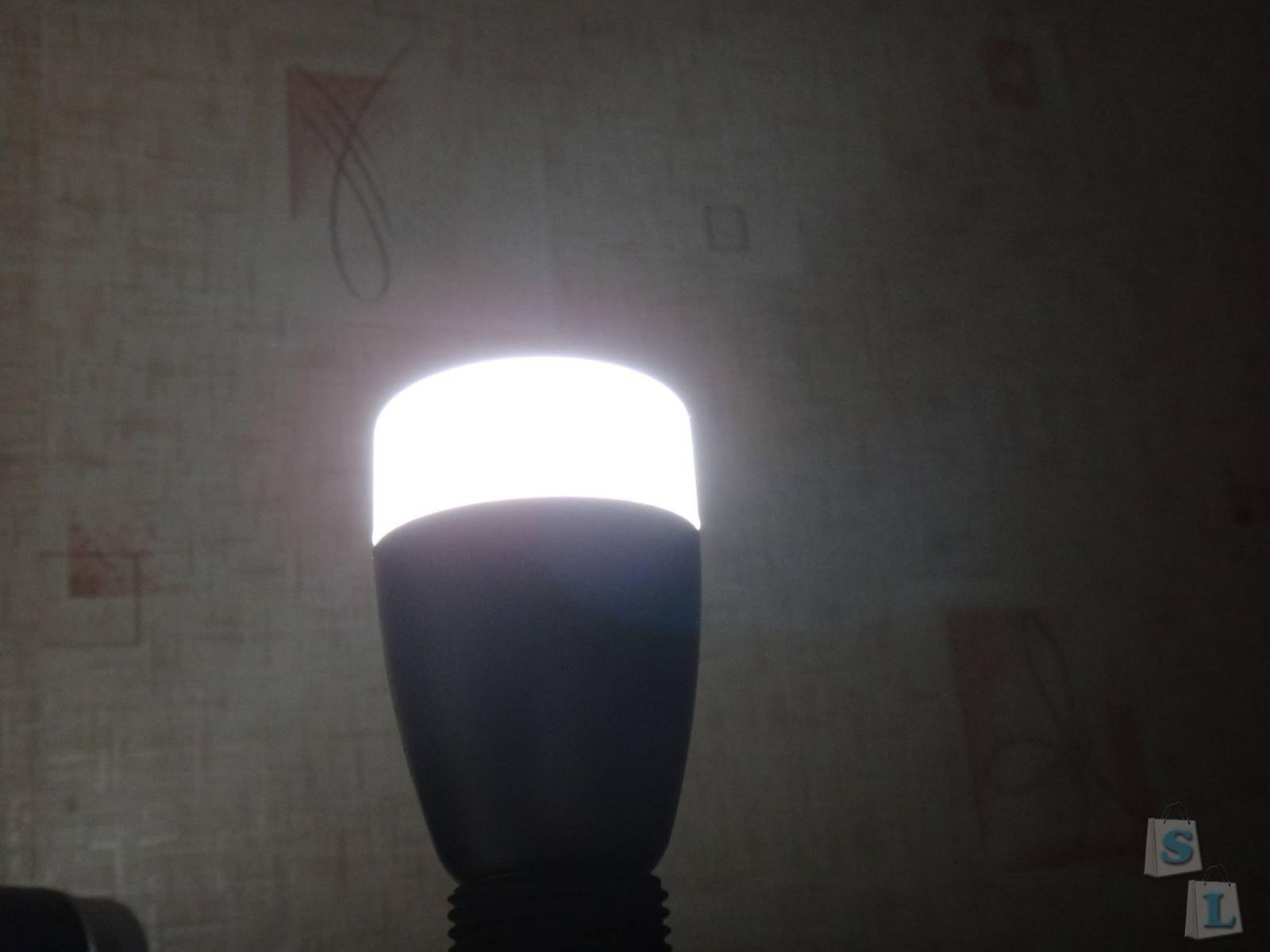 TinyDeal: Обзор Xiaomi Yeelight Mi light  - Bluetooth лампа  или меняй свет и цвет со смартфона E27 6W