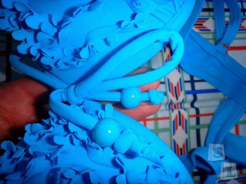 Aliexpress: Обзор  купальника ярко голубого цвета