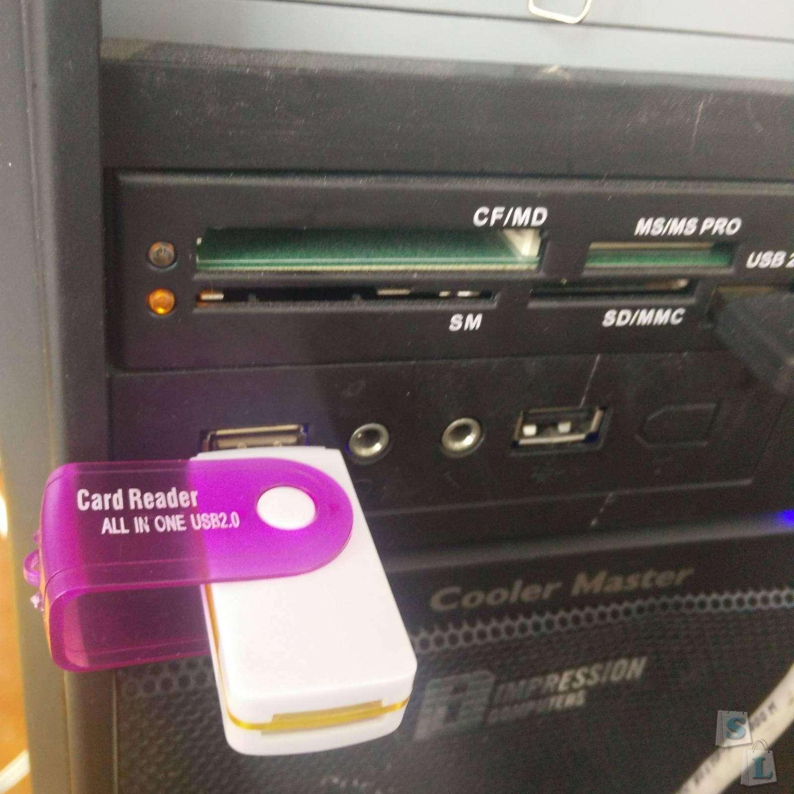 GearBest: Компактный всеядный картридер все в одном  USB2.0 Memory Card Reader