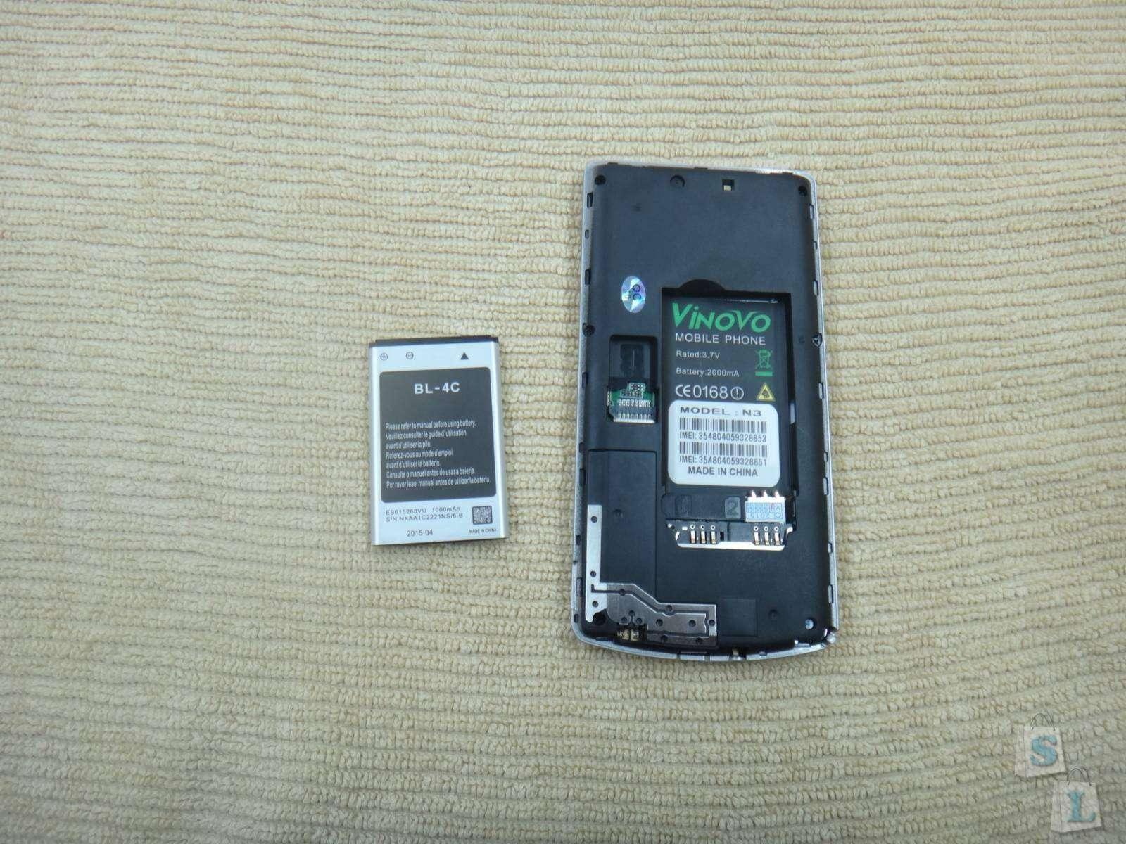 GearBest: Обзор телефона Vinovo N3 4.0 Phone FM Dual SIM MP3 который немного похож на смартфон