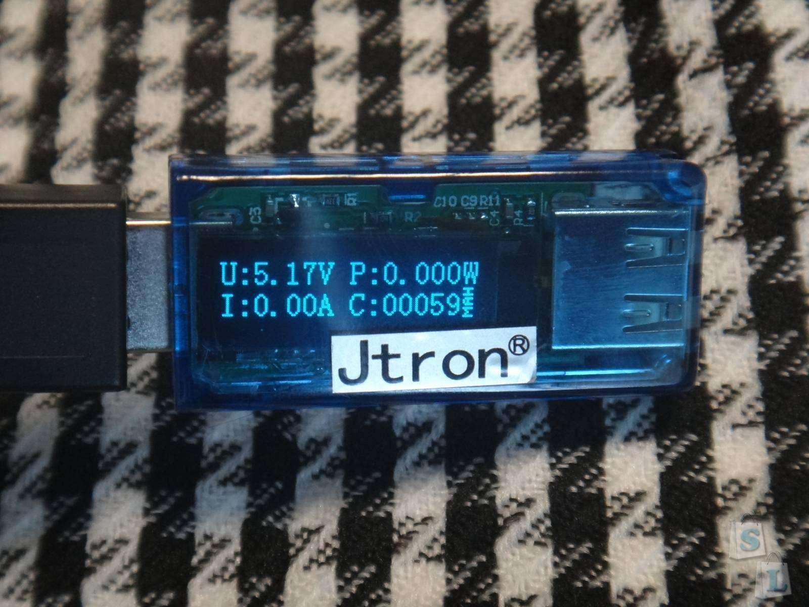 GearBest: Jtron USB  тестер измеритель c OLED дисплеем и возможностью измерения потребляемой мощности