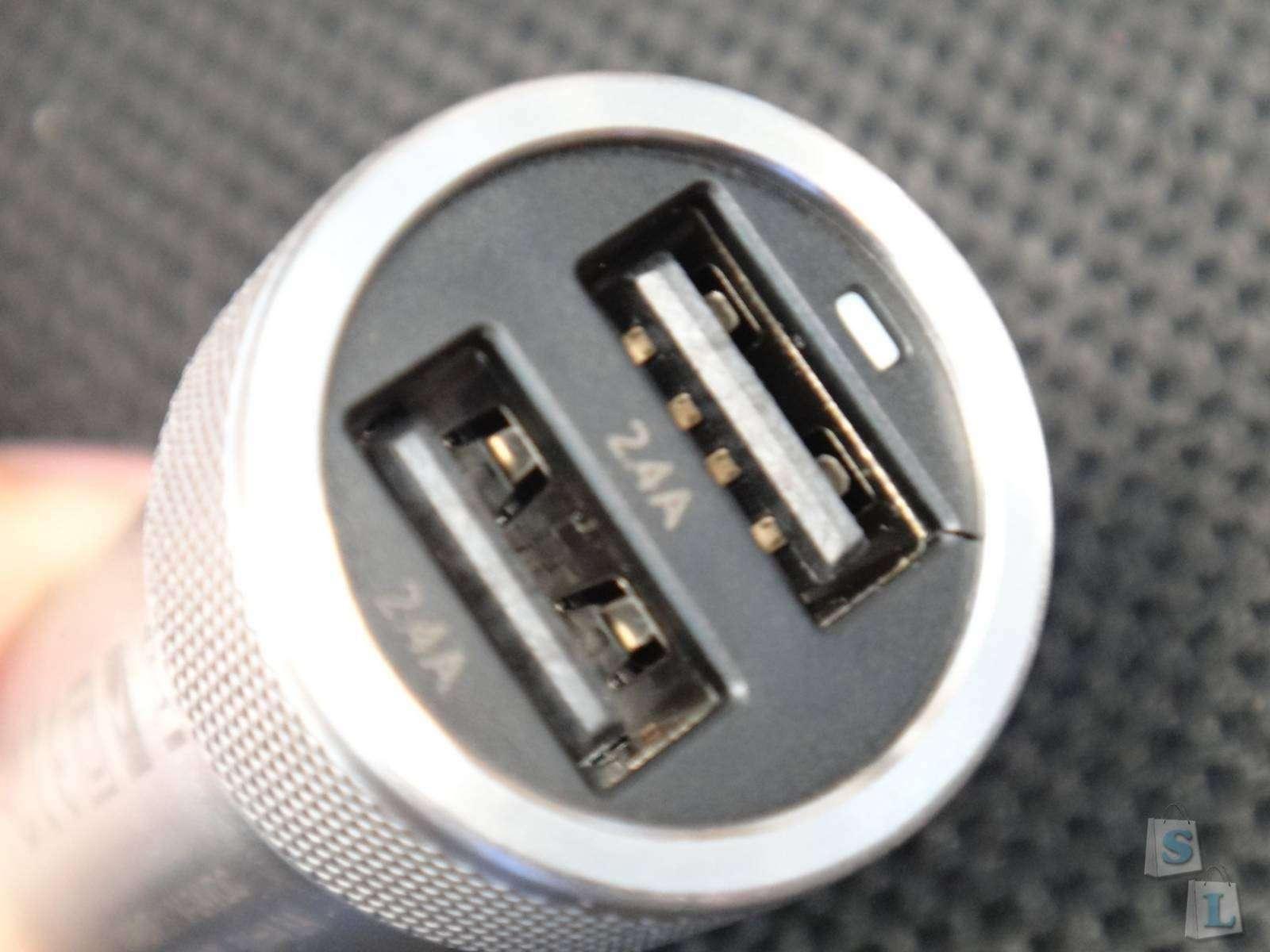 Другие - Китай: Стильное зарядное устройство для автомобиля Vinsic  в стальном корпусе и 5А на выходе