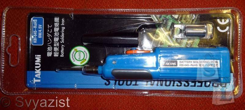Banggood: Беспроводной паяльник TAKUMI KBI-645 6W 4.5V Wireless Electric Battery Soldering Iron.