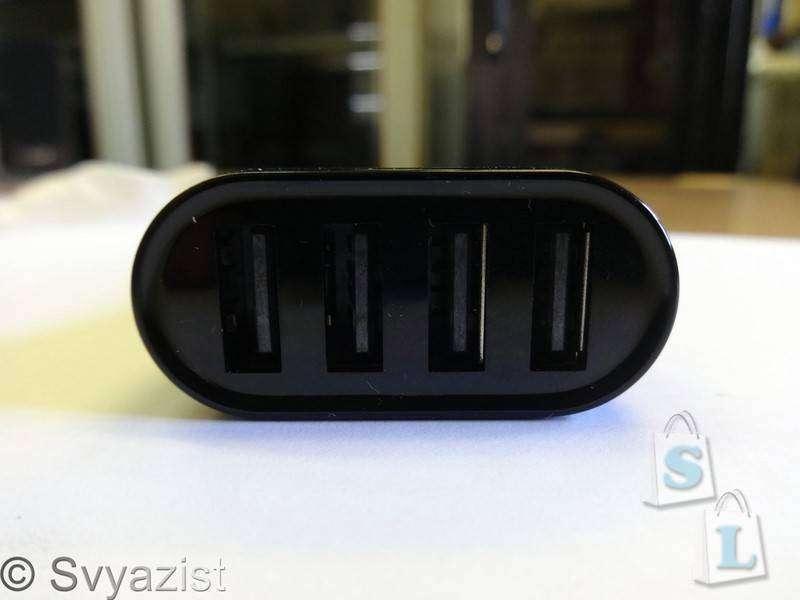 Banggood: Автомобильная четырехпортовая зарядка BlitzWolf™ BW-C1 9.6A 48W с технологией Power 3S