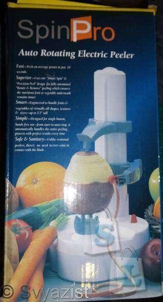 Banggood: Электроочиститель овощей и фруктов. Auto rotating electric  peeler.