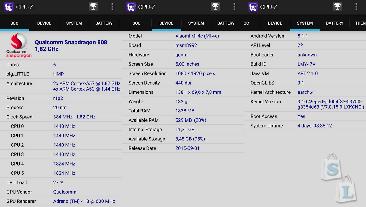 GearBest: Обзор XIAOMI Mi4C - производительная рабочая лошадка с топовыми характеристиками 2Gb - 16 Gb версия