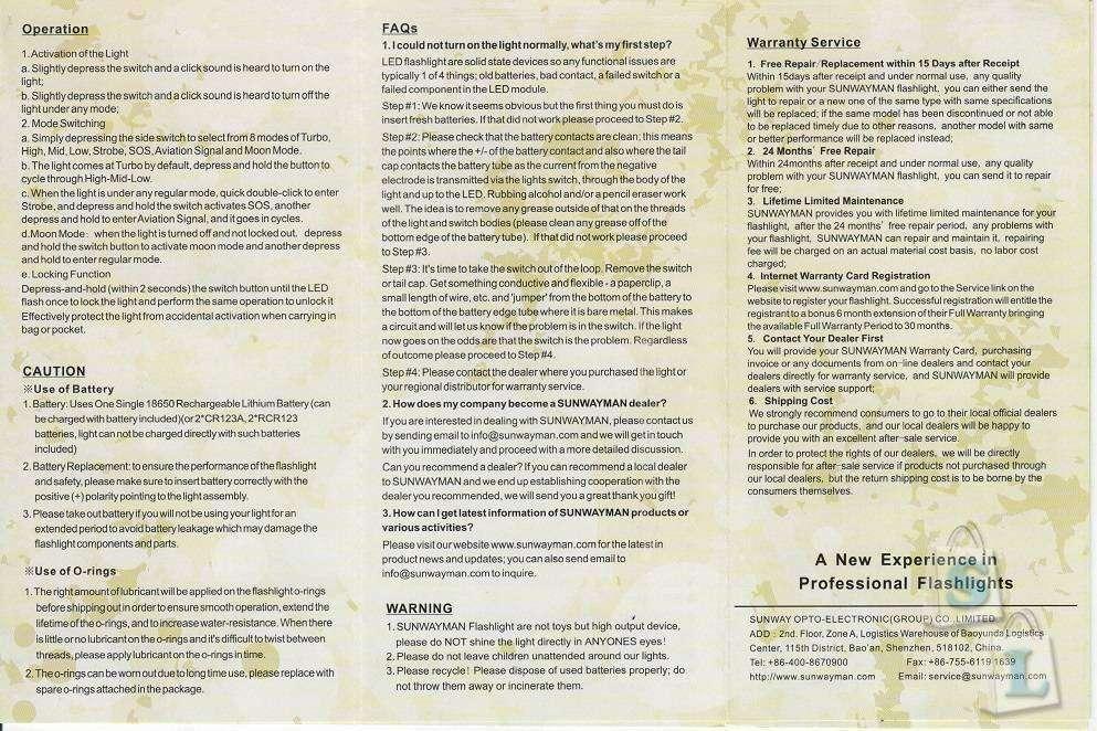GearBest: Фонарь Sunwayman C23C