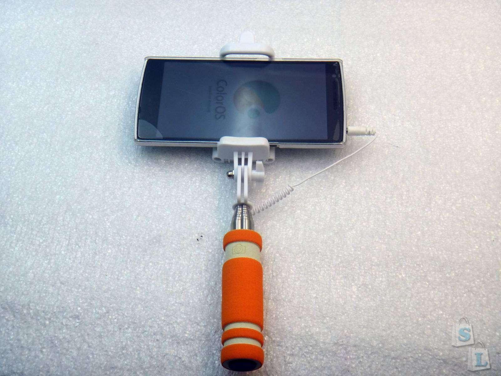 Aliexpress: Микро палка для селфи монопод с кнопкой для съемки под 3,5 jack