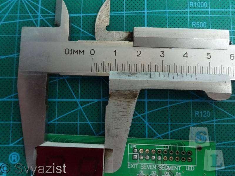 Aliexpress: Брелок в виде штангенциркуля, который может измерять. Мини обзор.