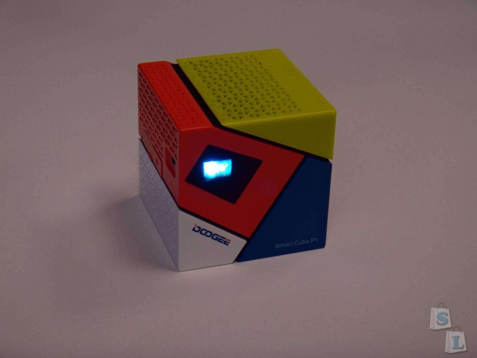 GearBest: Обзор DOOGEE P1 DLP проектор с емкой батареей и Android - мини офис в кармане