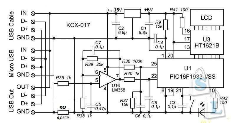 TVC-Mall: USB тестер на 15В (KCX-017)
