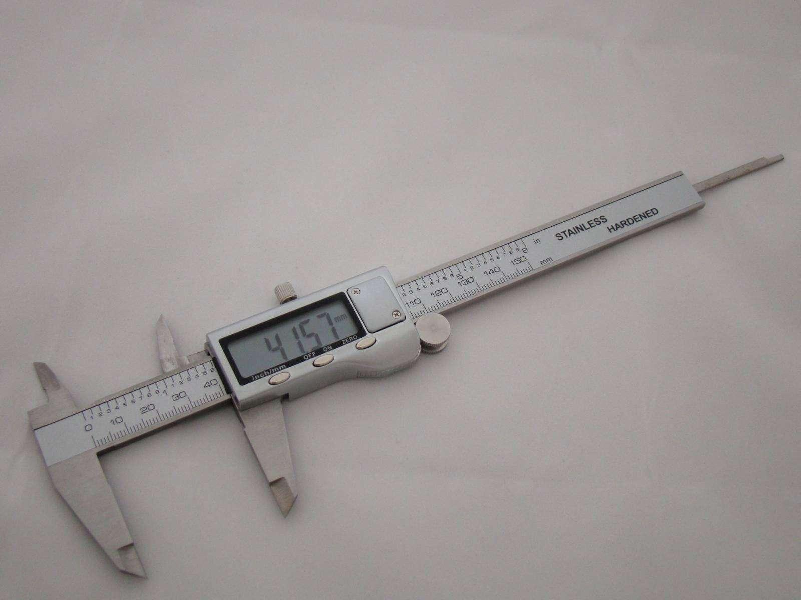 TVC-Mall: Стальной штангельциркуль 150 мм, с весьма точными измерениями.