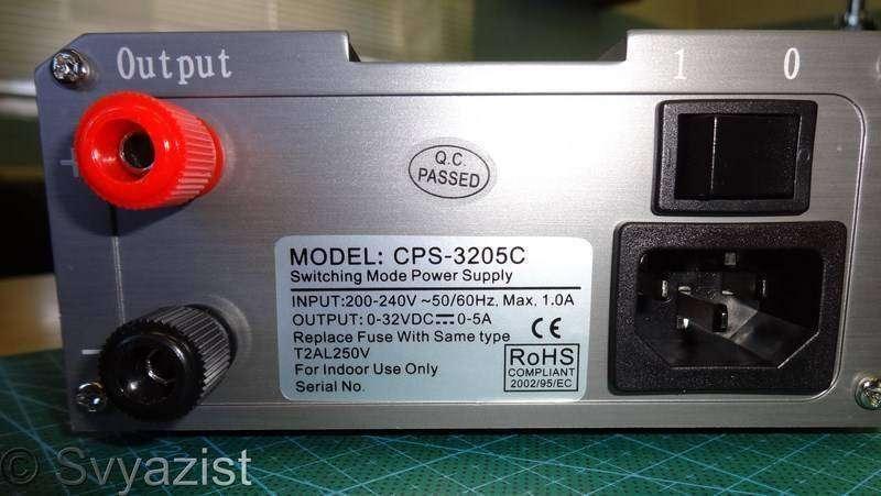 Banggood: Регулируемый импульсный источник питания Gophert CPS-3205C с активным PFC