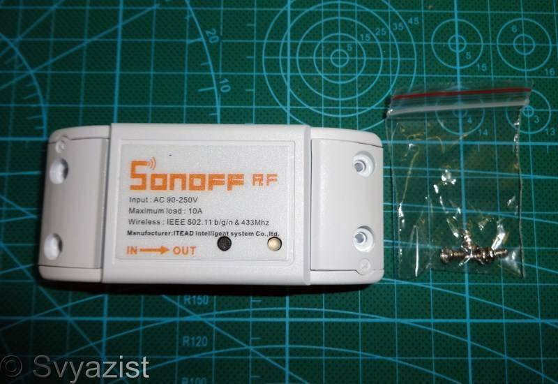 itead.cc: Выключатель Sonoff RF управляемый по Wi-Fi и 433MHz RF для «умного дома».