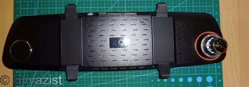 Aliexpress: Автомобильный видеорегистратор Andonstar ADX2 на процессоре Novatek NTK 96655 с двумя камерами и монитором в зеркале заднего вида.