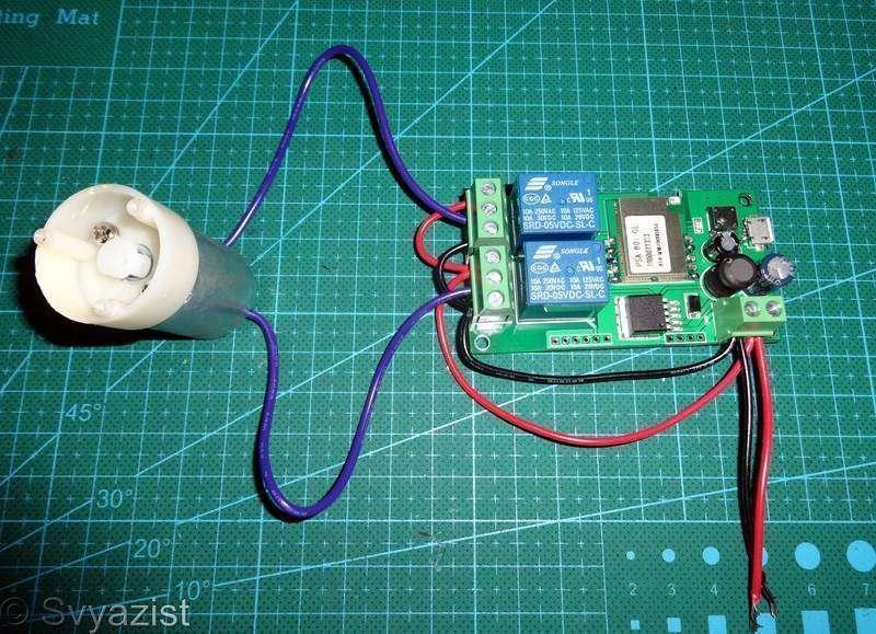 Другие - Китай: Переключатель направления вращения электромотора с управлением по Wi-Fi.