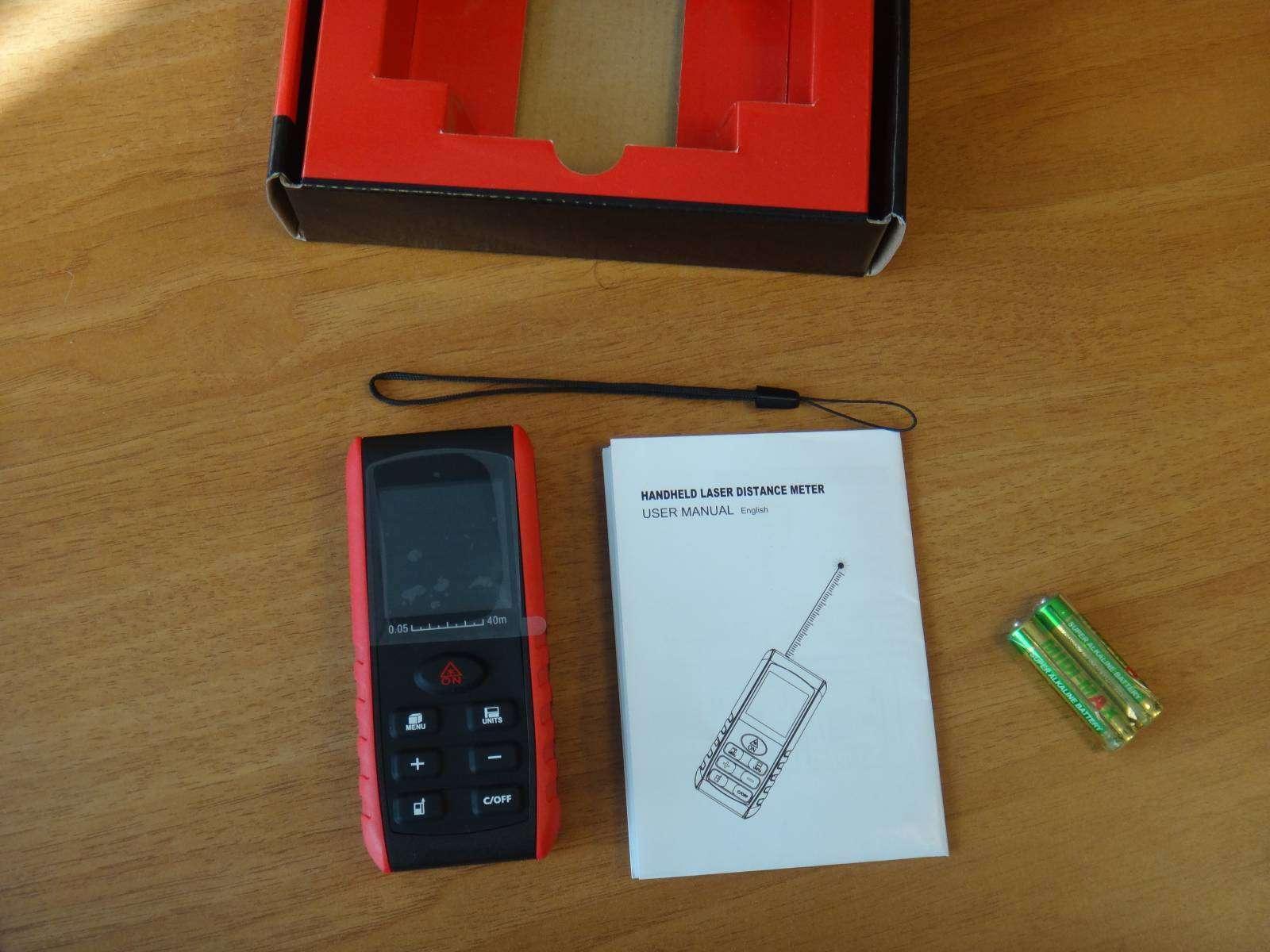 GearBest: Дальномер KXL - E40 недорогой лазерный измеритель расстояния, углов и объема, с памятью
