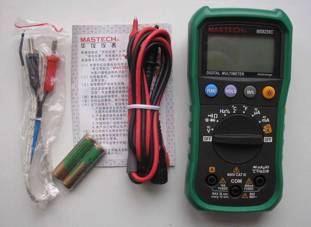GearBest: Мультиметр MASTECH MS8239C
