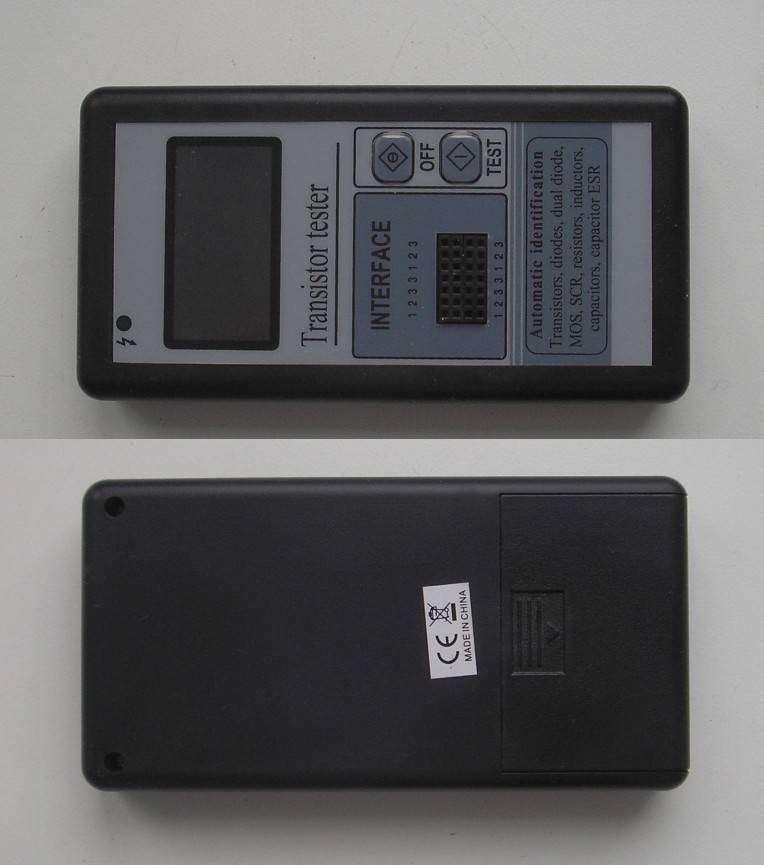 TomTop: Multi-functional LCD Transistor Tester Capacitance ESR LCR Meter. Прибор начинающего радиолюбителя