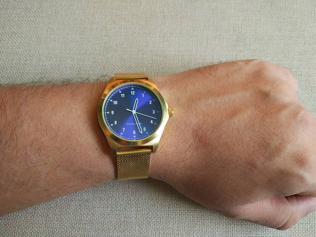 Aliexpress: Нарядные  часы  с циферблатом «синий металлик»