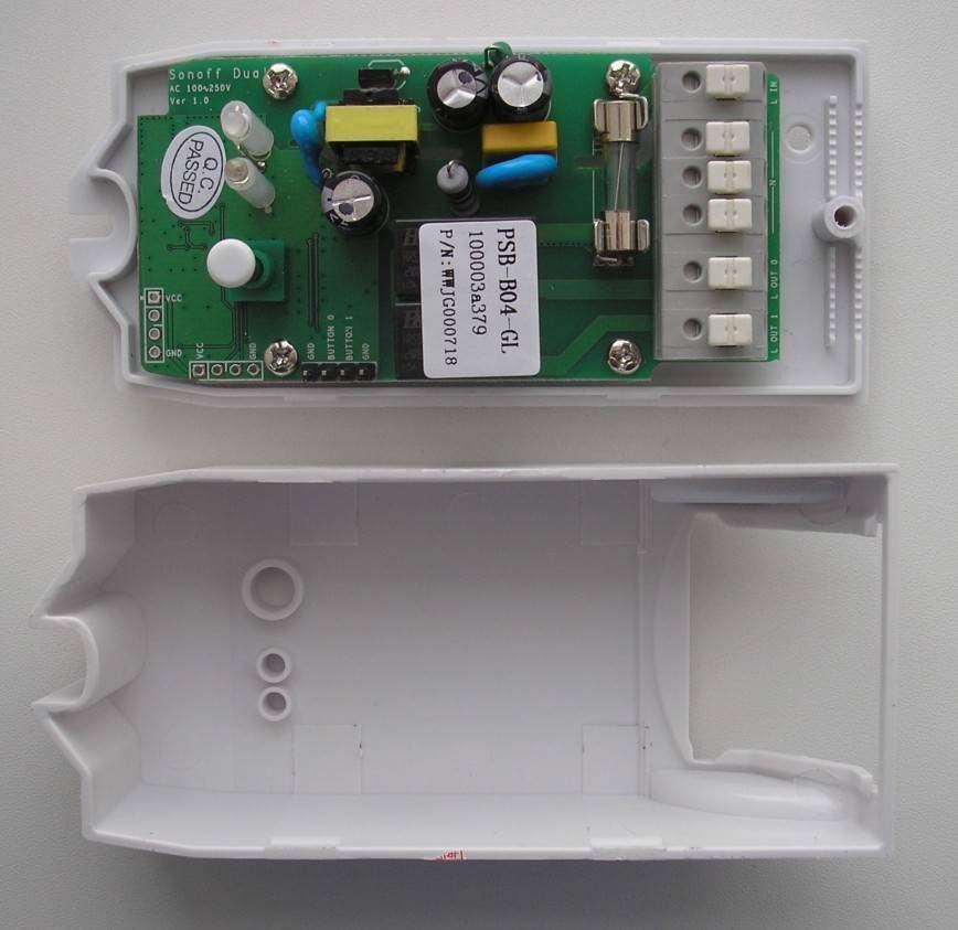 itead.cc: Управляемый по Wi-Fi smart-переключатель на две линии (Sonoff Dual WiFi)