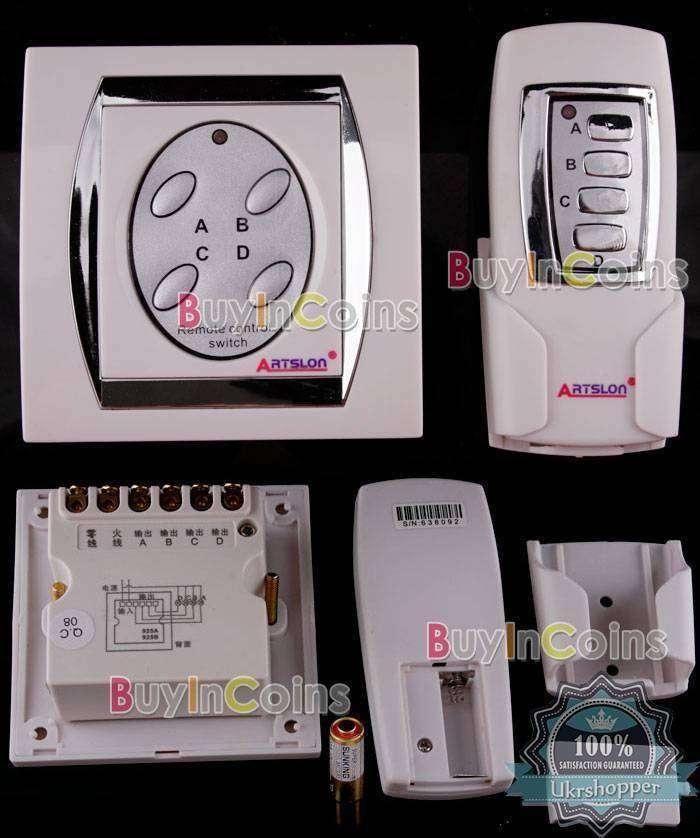 BuyinCoins: Дистанционный выключатель на 4 потребителя до 500Вт
