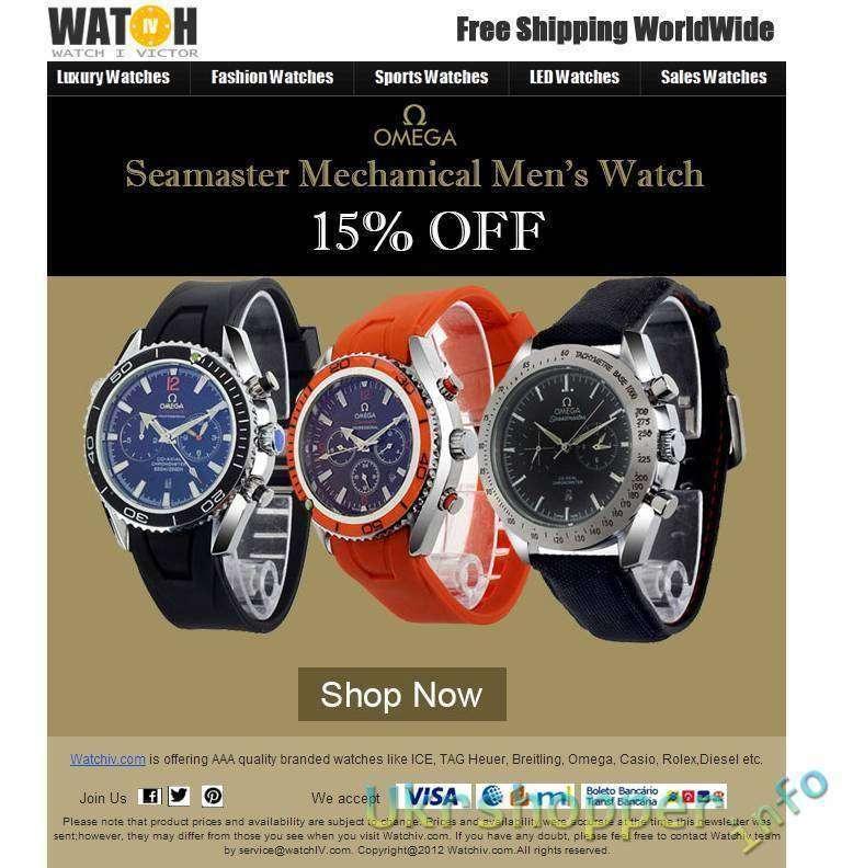 WatchIV: 15% скидка на часы Omega