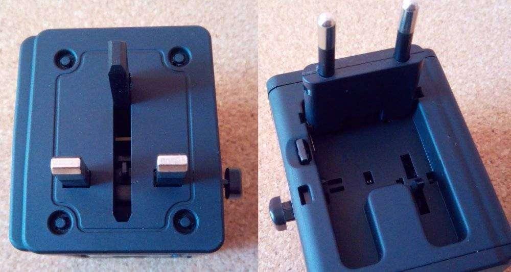 Другие - Китай: Универсальный адаптер на все типы розеток со встроенный Wi-Fi роутером и парой USB