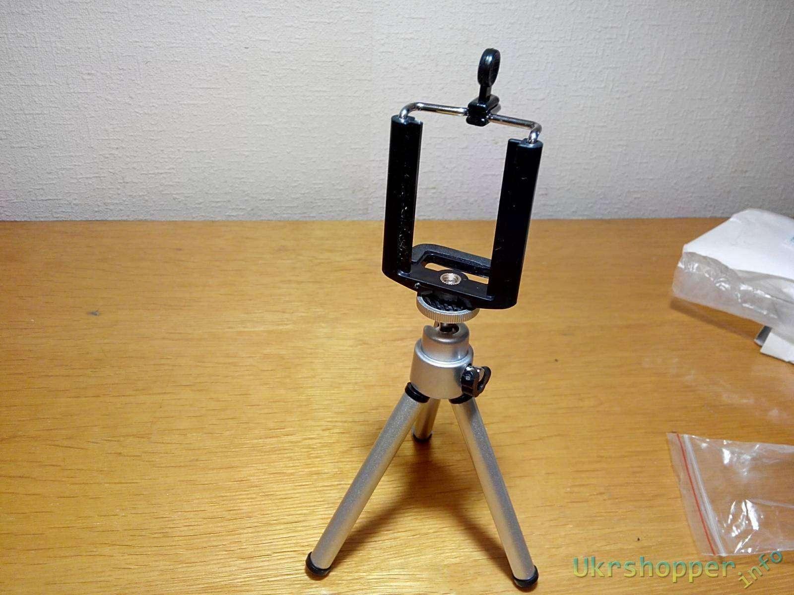 Ebay: Мини-штатив для фотоаппарата с держателем под смартфон (триножка)