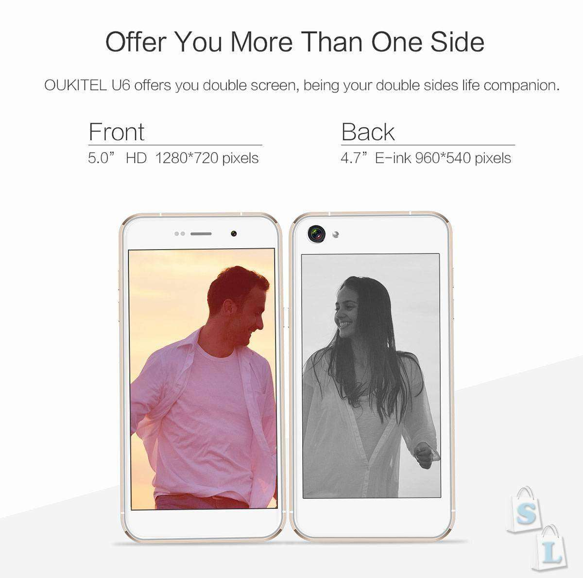 Shopper: В ожидании двухэкранного чуда - OUKITEL U6 4G