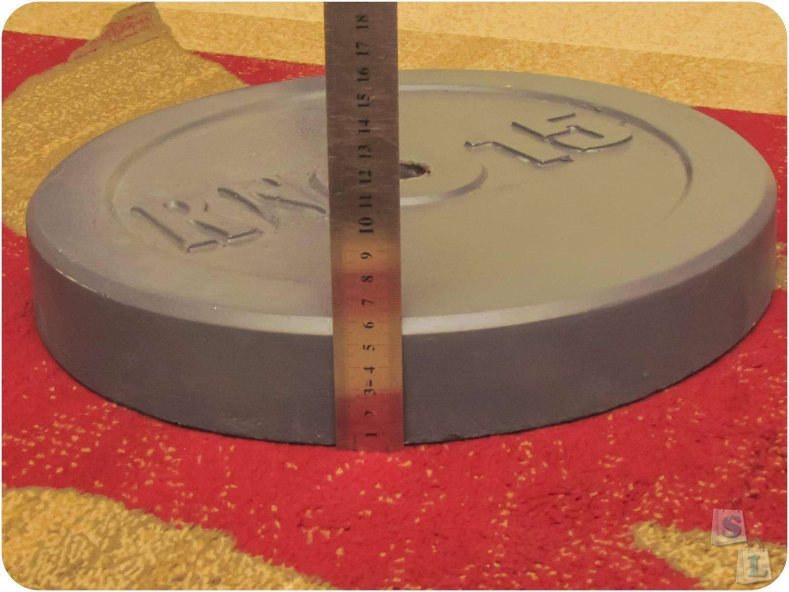 Другие - Украина: Гранилитовые блины для штанги, 2 х 15 кг