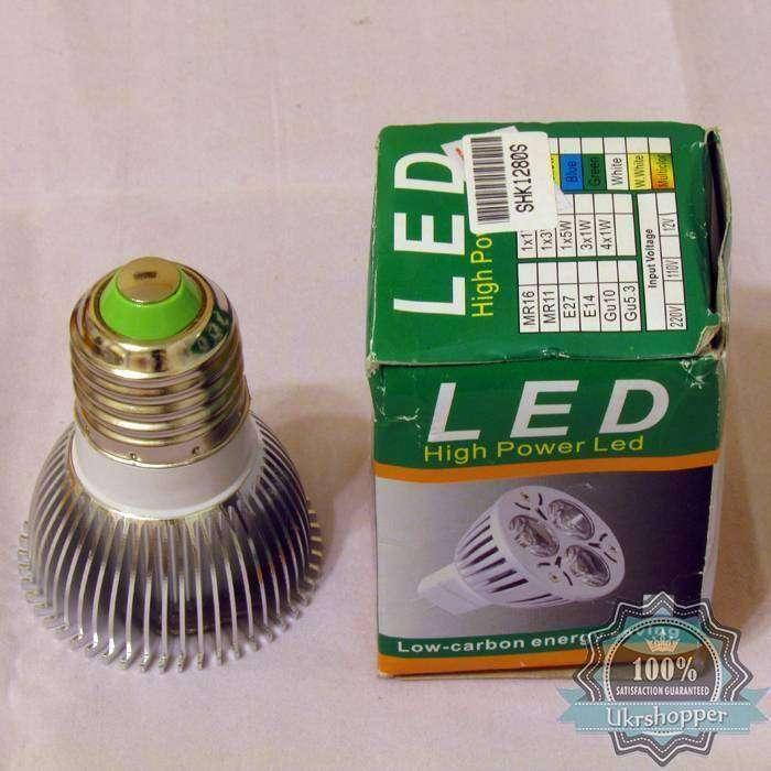 GearBest: Светодиодная лампочка, мощностью 3 Ватта, под патрон E27
