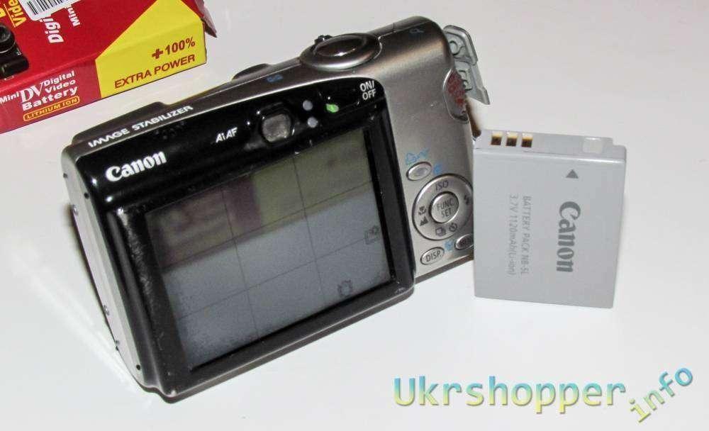 Banggood: Небольшой обзор аккумулятора NB-5L для фотокамер 'мыльниц' Canon